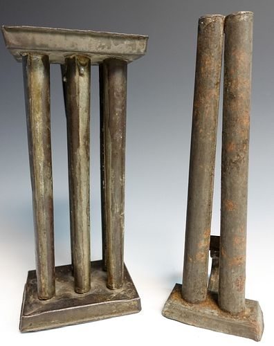 Two Antique Candlemolds