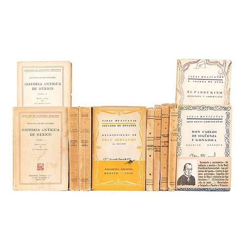 Historia Antigua de México / Vidas Mexicanas.  a) Clavijero Francisco Javier. Historia Antigua de México. Piezas: 11.