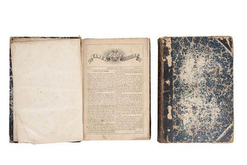 Owen Clarke, John. Eliza Cook's Journal. London: John Owen Clarke, 1849. Tomos I - II. Pzs: 2.