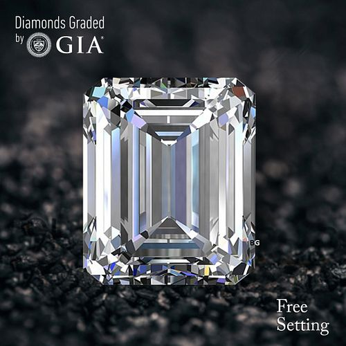 7.28 ct, D/FL, TYPE IIa Emerald cut GIA Graded Diamond. Appraised Value: $1,747,200