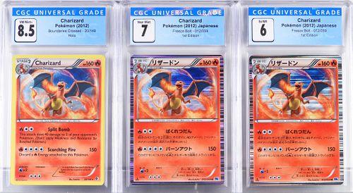 3PC 2012 Pokemon Boundaries Crossed Charizard CGC