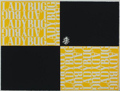 "Corita Kent,  ""l is for ladybug"", 1968"