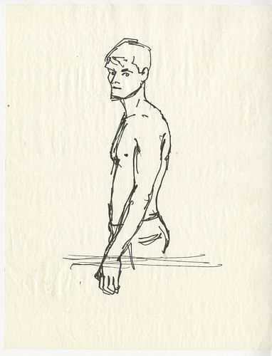 "Alex Katz, ""Erik"", 1993"