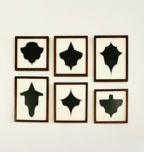 """Allan McCollum, """"Collection of Six Drawings"""", 1989/92"""
