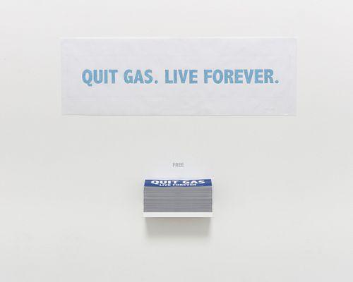 """Donald Moffett, """"Quit Gas"""", 2021"""