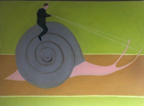 """Javier Téllez, """"The Snail Rider"""", 2020"""