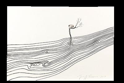"Giuseppe Penone, ""Fleuve (D4049)"", 2019"