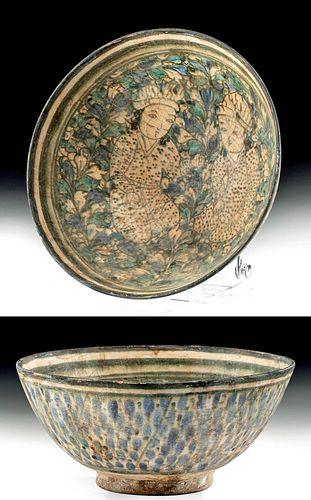 13th C. Persian Il-Khanid Glazed Pottery Bowl ex-Malter
