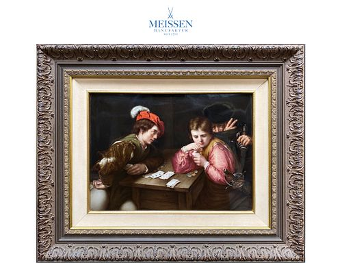 The Cheater, A Museum Quality MEISSEN Framed Plaque