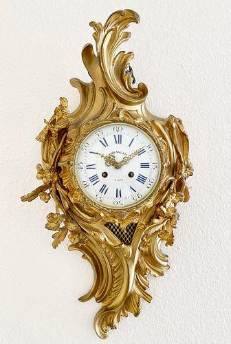 19th Century TIFFANY & Co. Bronze wall cartel Clock