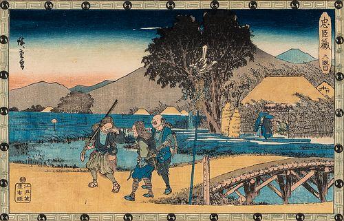 Utagawa Hiroshige (1797-1858), Seven Chushingura Woodblock Prints