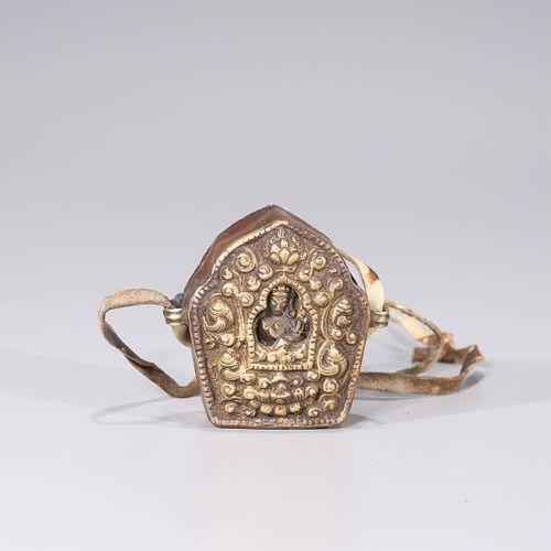 Sino-Tibetan Gilt Copper Traveling Shrine