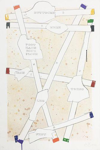 Jasper Johns - Sketch from Untitled I