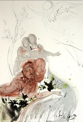 Salvador Dali - And Immediately Tobit Recovered His