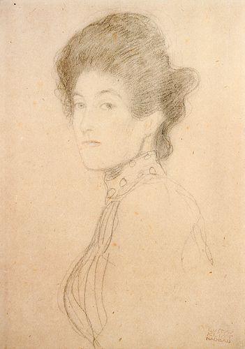 Gustav Klimt (After) - Portrait of a Woman