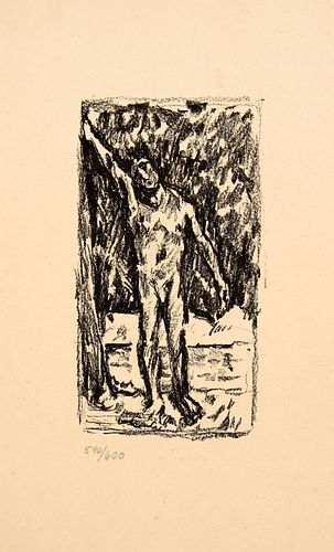 Pierre Bonnard - Bather: Homage to Cezanne