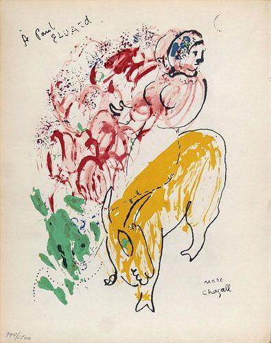 "Marc Chagall- Untitled from ""Le Dur Desir De Durer"""