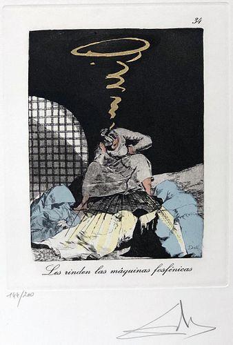 Salvador Dali - Les rinden las maquinas fosfenicas, #34