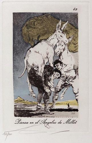 Salvador Dali - piensa en el Angelus de Millet