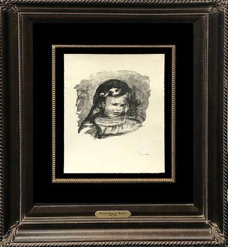 Pierre-Auguste Renoir - Claude Renoir La Tete Baisse