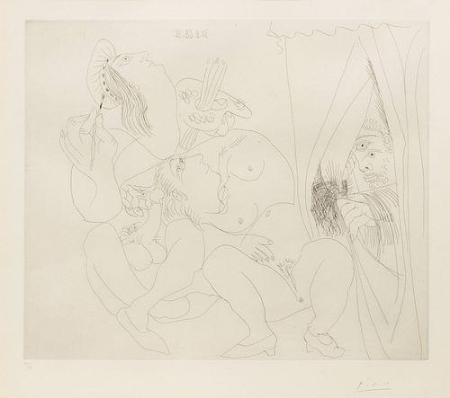 Pablo Picasso - Raphael et la Fornarnia. V: Avec Voyeur