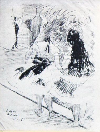 Edgar Degas (After) - From Dans les Coulisses