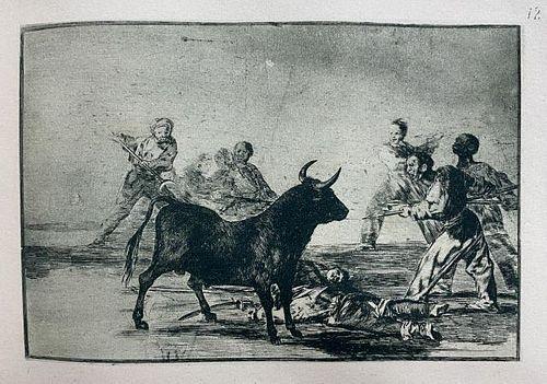 Francisco Goya (after)- La Tauromaquia 12