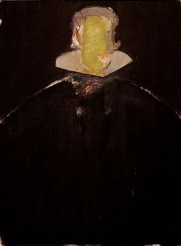 """MANOLO VALDÉS BLASCO (Valencia, 1942) """"Felipe IV"""", 1982 Oil on canvas adhered to board. Signed on the back."""