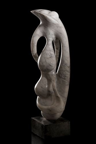 AGUSTÍN CÁRDENAS ALFONSO (Cuba, 1927 - 2001). Untitled. Marble. Unique piece according to certificate. Attached certificate issued by Doña Lidia Cárde