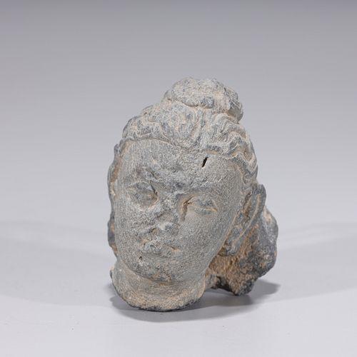 Gandharan Carved Head