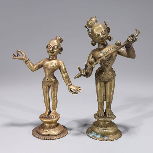 Two Antique Indian Statues