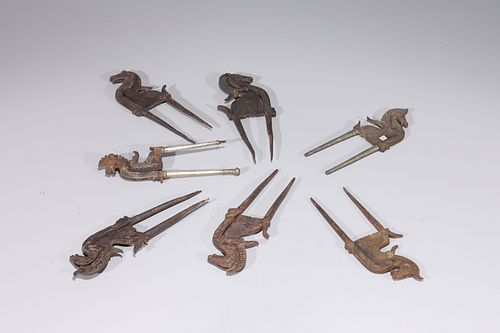 Lot of Antique Indian Betel Nut Crackers