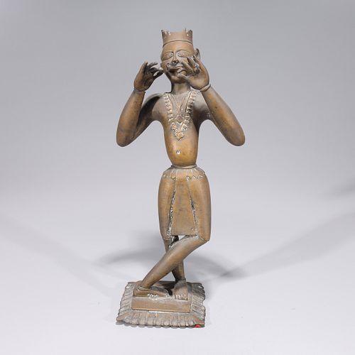 Antique Indian Bronze Standing Statue