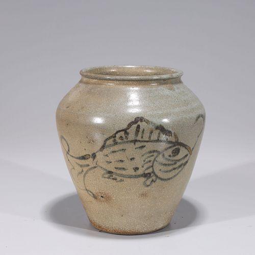 Korean Ceramic Glazed Jar