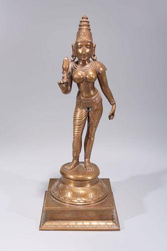 Indian Bronze Standing Deity