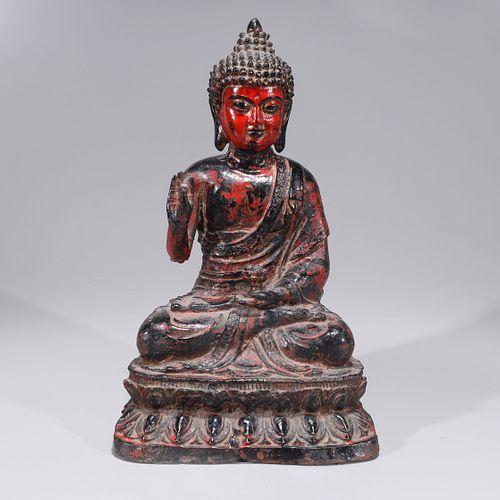Antique Chinese Iron Buddha