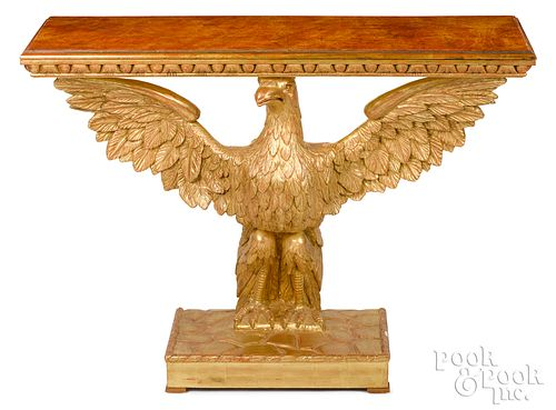 Giltwood eagle pier table, 19th c.