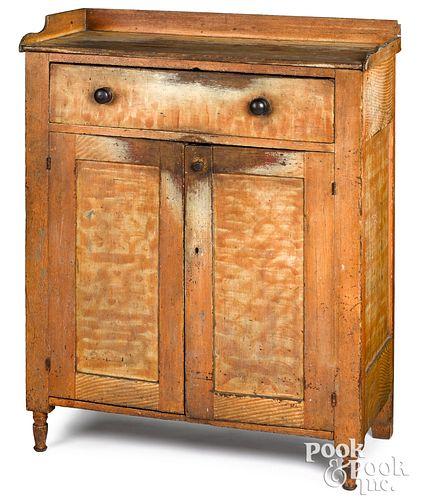 Pennsylvania painted poplar jelly cupboard, 19th c