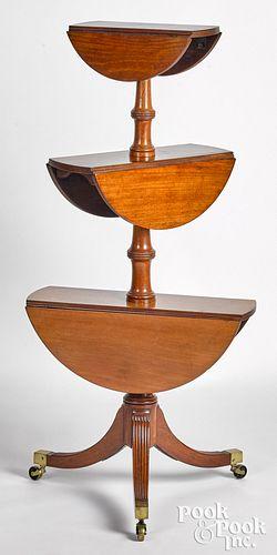 Regency mahogany drop-leaf dumbwaiter