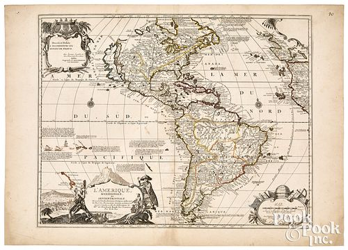 Nicholas de Fer map of the Americas, ca. 1726