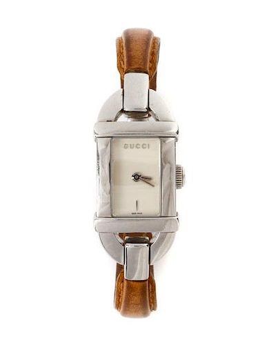 93af0fa6281 Gucci Ladies 6800 L Series Bangle Quartz Watch. Lot 284. Prev Lot · Next  Lot · item Image