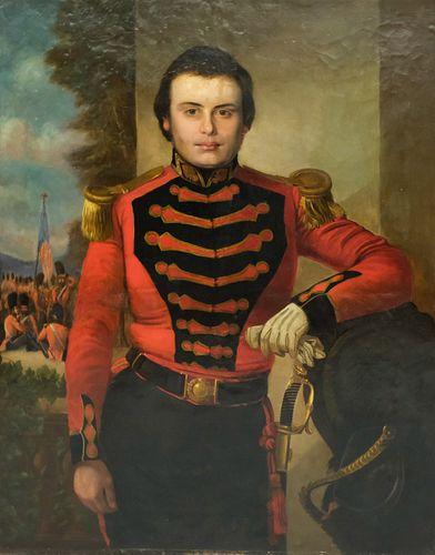 American School, Portrait of an Officer ca. 1812