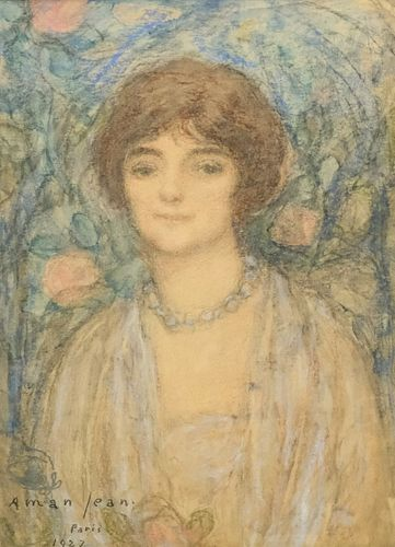 Edmond Aman-Jean, Portrait of a Woman