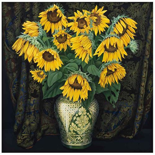 ORIS ROBERTSON, Sin título, Firmado y fechado 1995, Óleo sobre tela, 105 x 105 cm | ORIS ROBERTSON, Untitled, Signed and dated 1995, Oil on canvas, 41