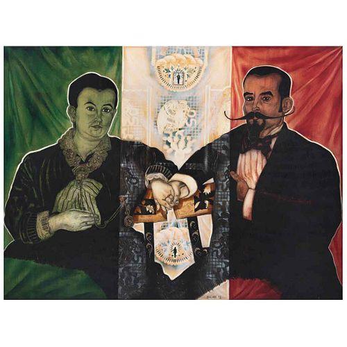 ARTURO ELIZONDO, Sin título, Firmado y fechado 92, Óleo sobre tela, 150 x 200 cm, Con constancia | ARTURO ELIZONDO, Untitled, Signed and dated 92, Oil