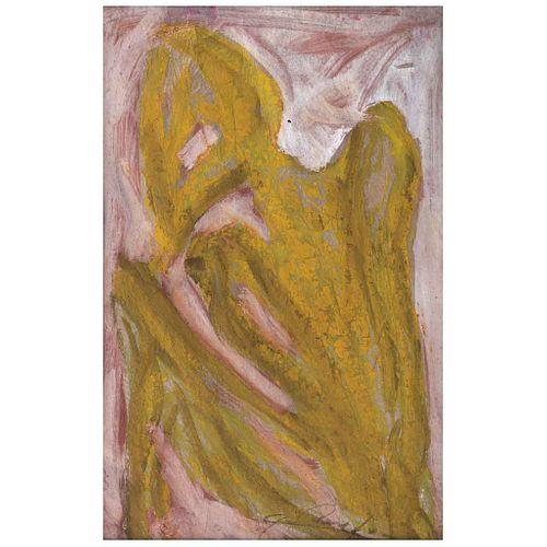 CHUCHO REYES, Sin título, Firmada, Anilina sobre papel de china, 74 x 48 cm, Con certificado | CHUCHO REYES, Untitled, Signed, Aniline on tissue paper