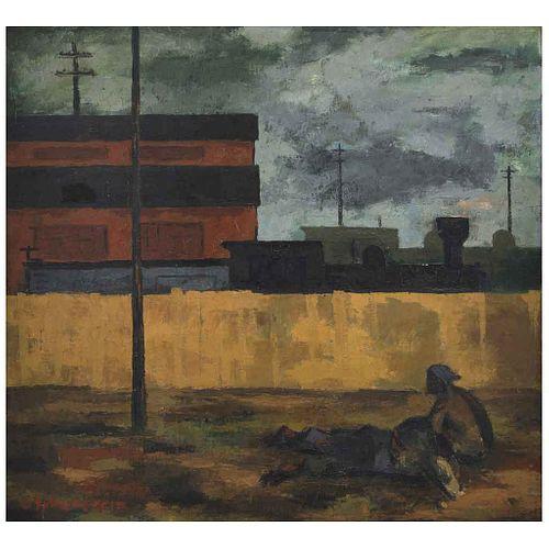 "ENRIQUE ECHEVERRÍA, Sin título, Firmado, Óleo sobre tela, 80 x 87 cm | ENRIQUE ECHEVERRÍA, Untitled, Signed, Oil on canvas, 31.4 x 34.2"" (80 x 87 cm)"