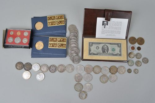 Estate Group Silver Dollars & Other Currency