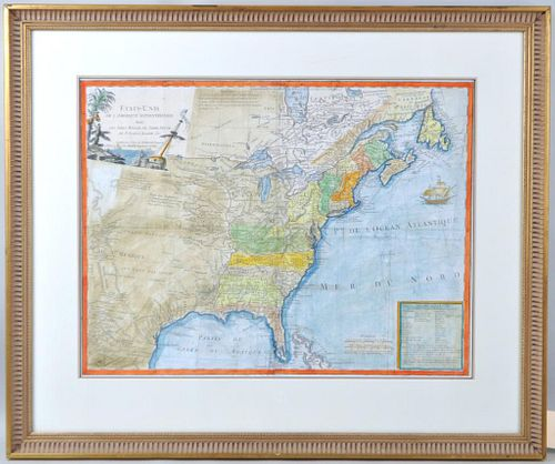 Antique French Map of United States