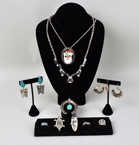 Group Sterling Native American Jewelry